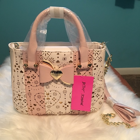 86a24c46ee Betsey Johnson Laser Cut Top Handle Small Satchel